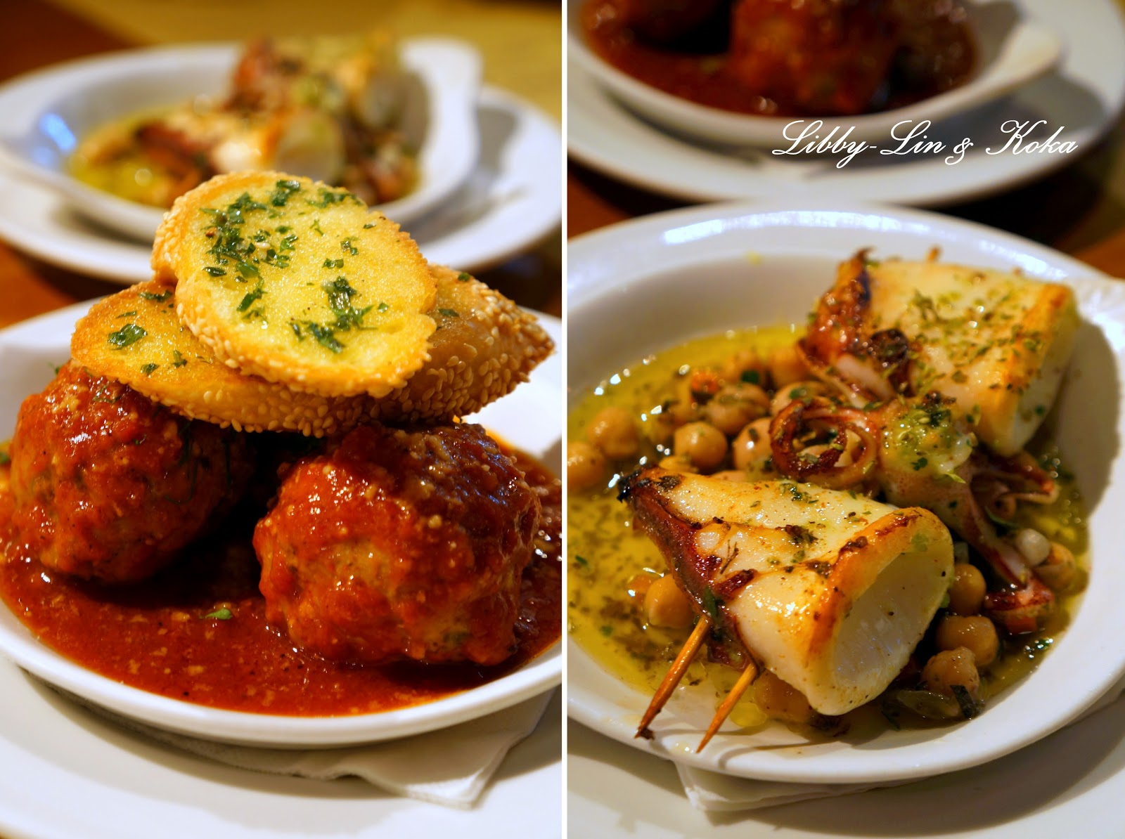 Meatballs+al+forno+and+Calamari+al+forno+with+fagioli+&+oregano.jpg