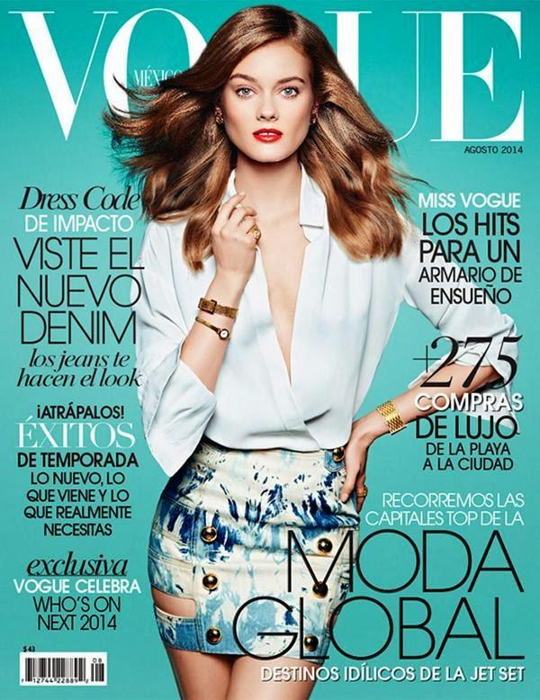Monika Jagaciak - Vogue Magazine, Mexico, August 2014
