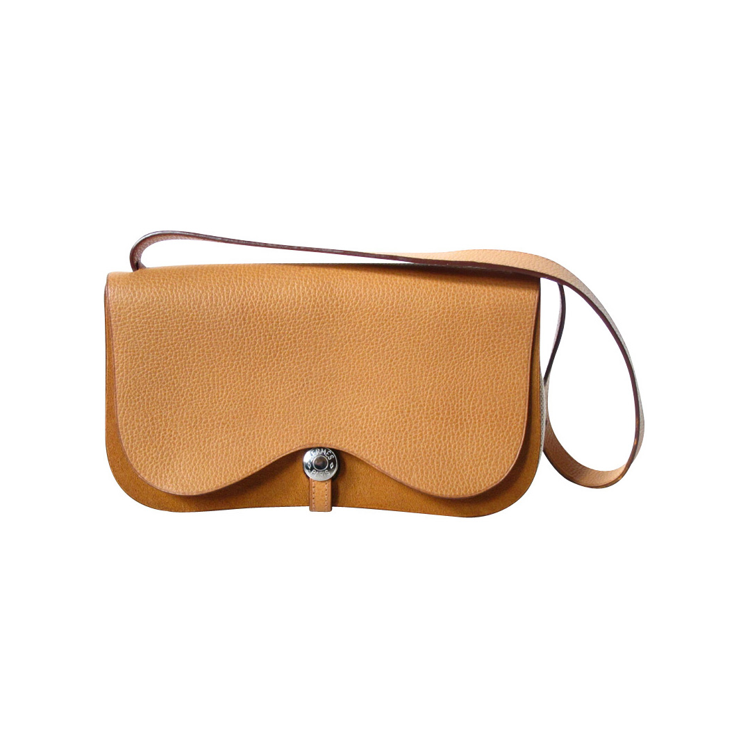Hermes Vintage Shoulder Bag Bag it Hermes Tan Shoulder