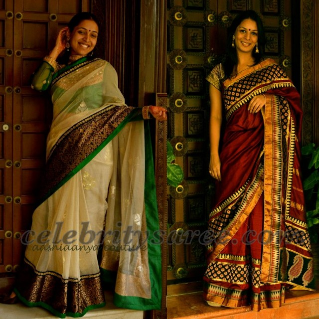 Nice Color Combination Sarees