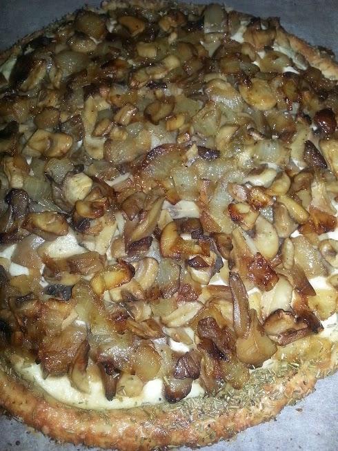 tarta ricotta y champiñones
