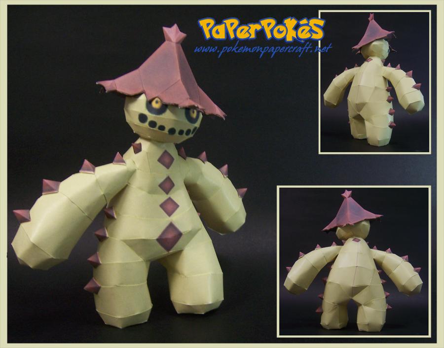 Pokemon Cacturne Papercraft