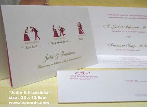 Unique Card Wedding Invitation