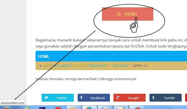 Membuat Link Palsu Dengan Javascript