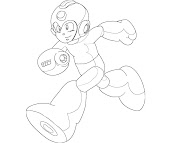 #18 Mega Man Coloring Page