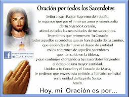 ♡ Oración por los sacerdotes