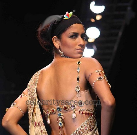 actresses and models in designer back neck, back less blouses