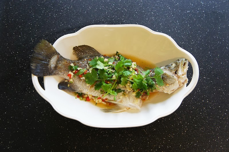 Seasaltwithfood steamed fish with garlic chili lime sauce for Steamed whole fish