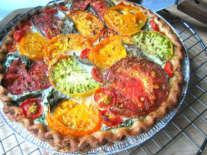 Stacey Snacks: Tomato & Ricotta Pie