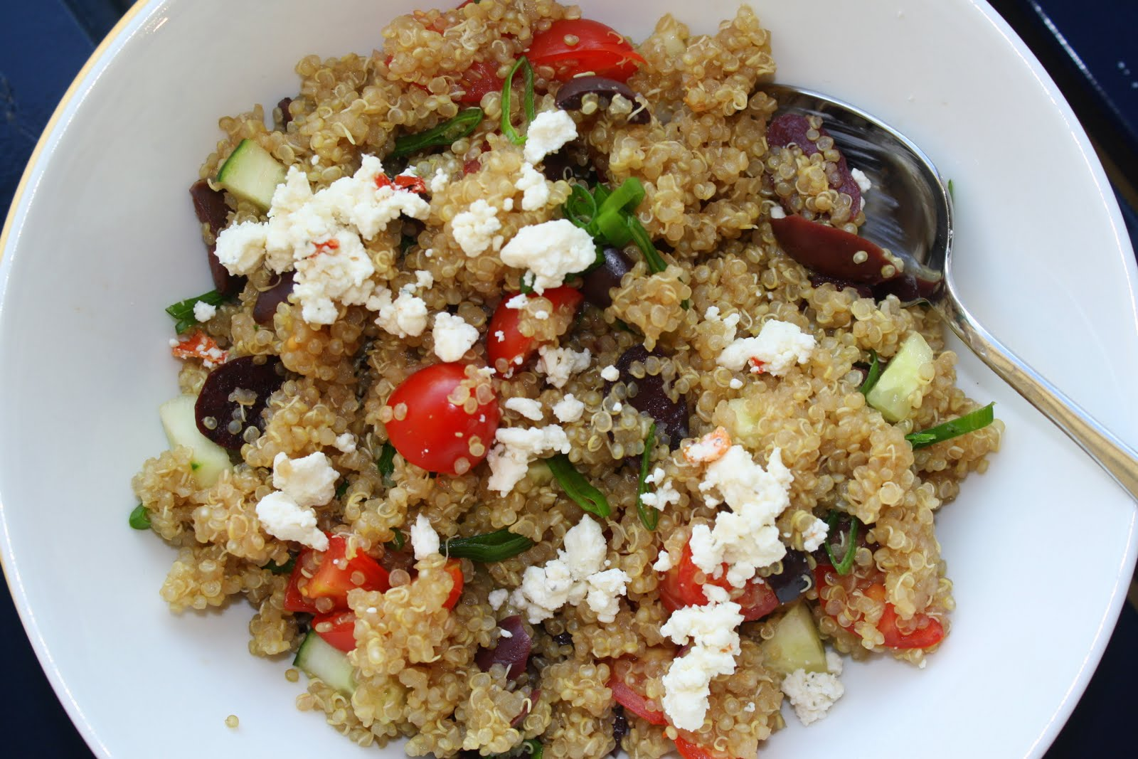 That's so Michelle...: Greek Quinoa Salad in a Lettuce ...