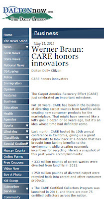 CARE Honors Carpet Recycling Innovators