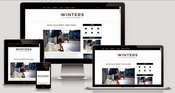 Winters Responsive Blogger Template Free Download