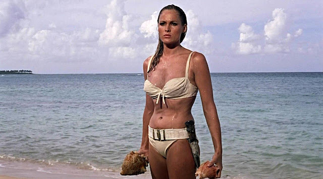 Vintage Bond Girls in Swimsuits Ursula Andres White Bikini