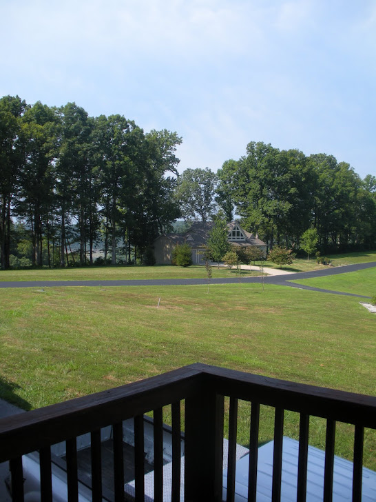 VIEW FROM THE BACK DECK TO THE LAKE ACROSS STREET..