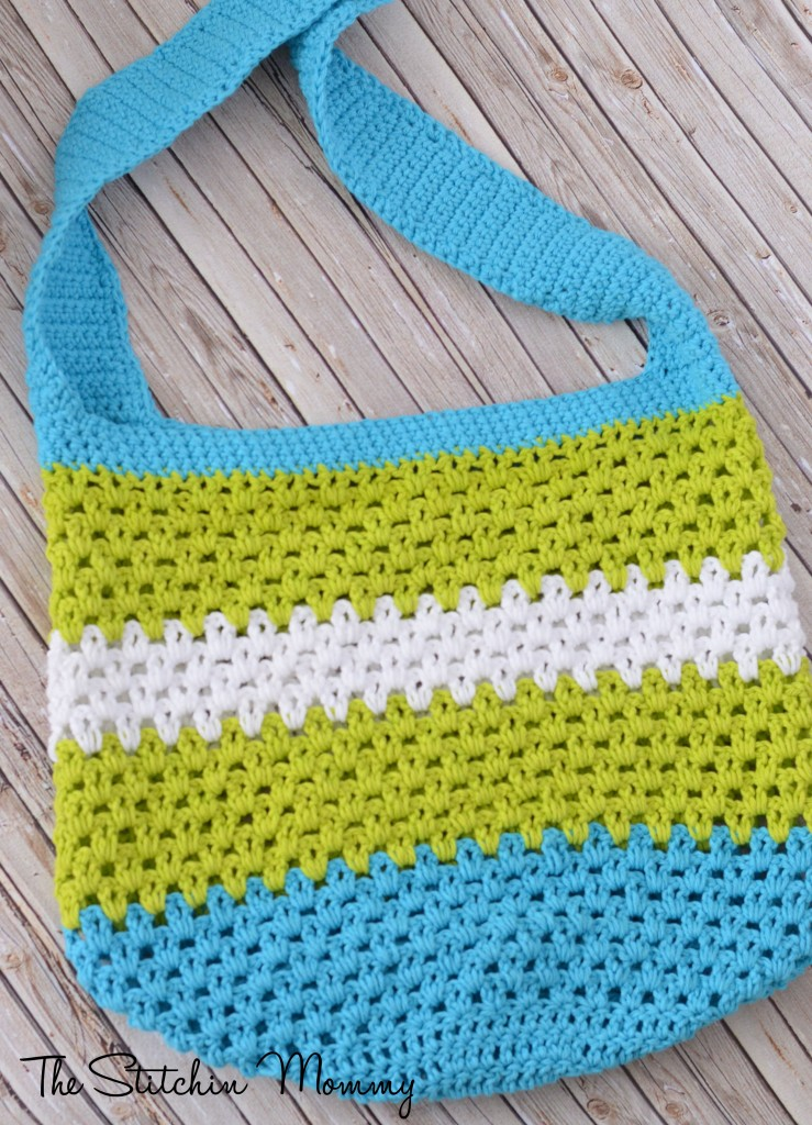 Beginner Crochet Tote Bag Pattern : Fiber Flux: Beautiful Beach Bags! 16 Free Crochet Patterns...