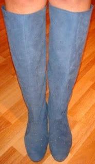 poza cu cizme de primavara gri din piele intoarsa la comanda