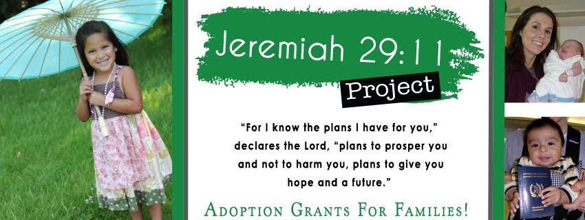 Jeremiah 29:11 Project