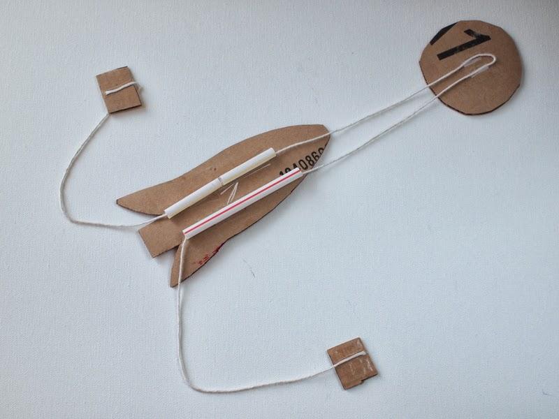 Cardboard Spaceship Climbing Toy