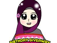 Birthday Giveaway by Blog Rabiatul Rahim
