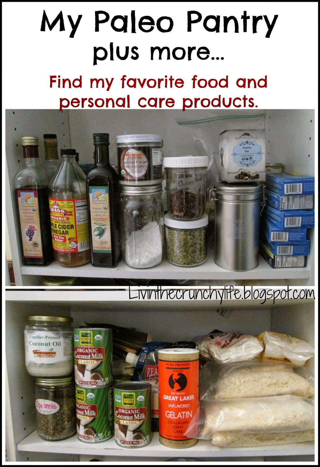 My Paleo Pantry plus more...Find my favorite food and natural care products.