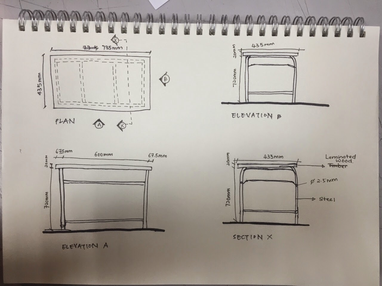 Furniture Detailing Drawings Observing The Desk