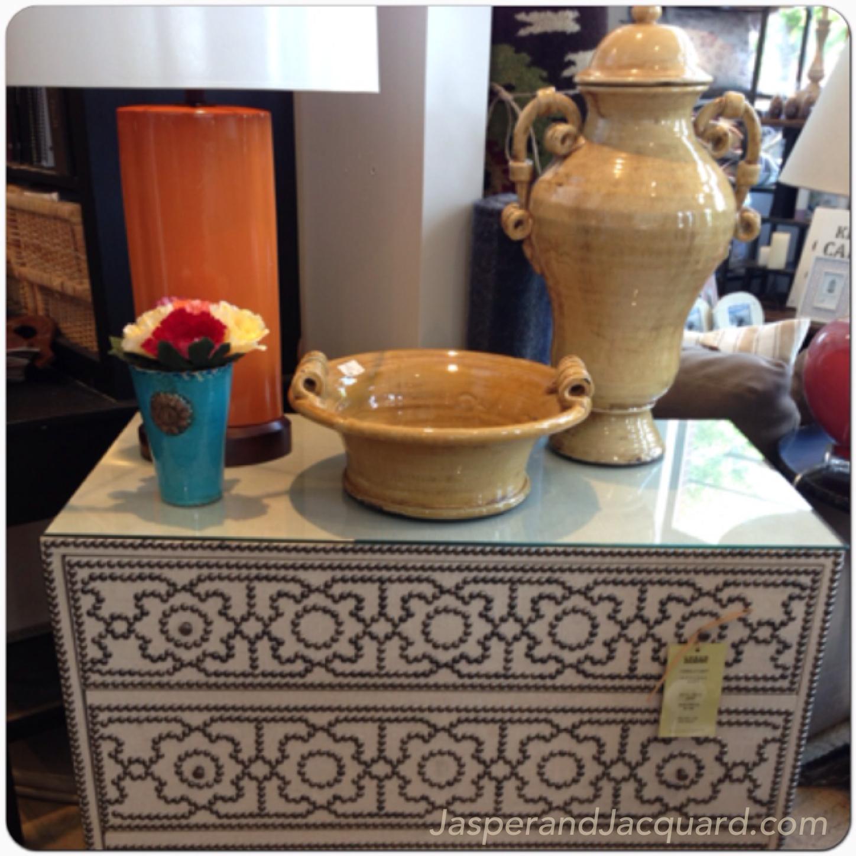 Silent Monday, Jasper Jacquard, decor, lamp chest vase dresser design