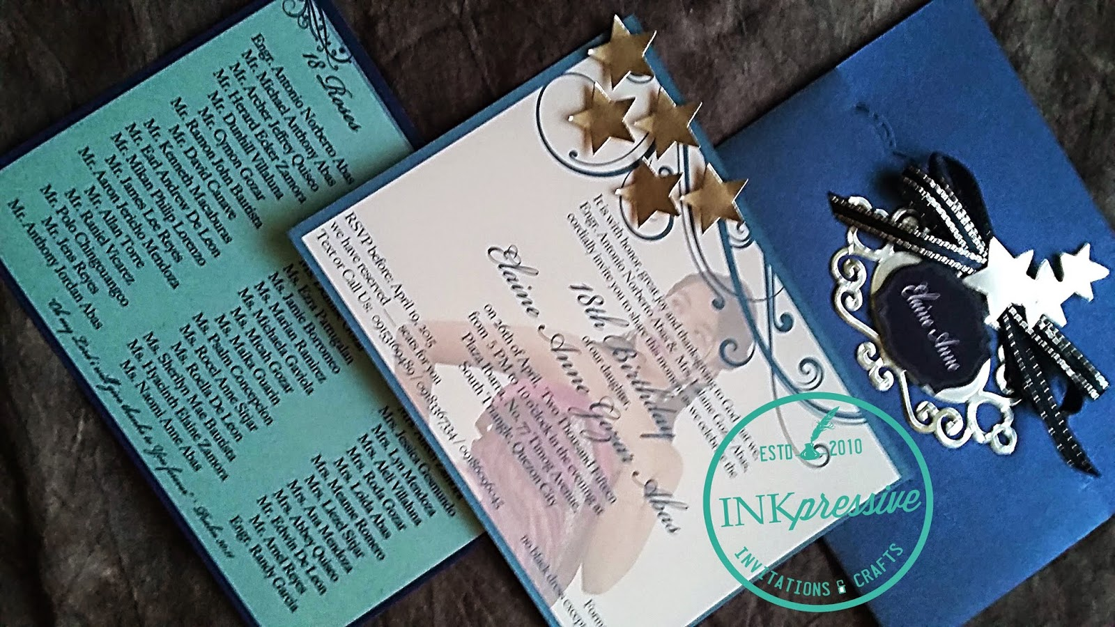 Debut Starry Night Midnight Blue And Silver Debut Invitations