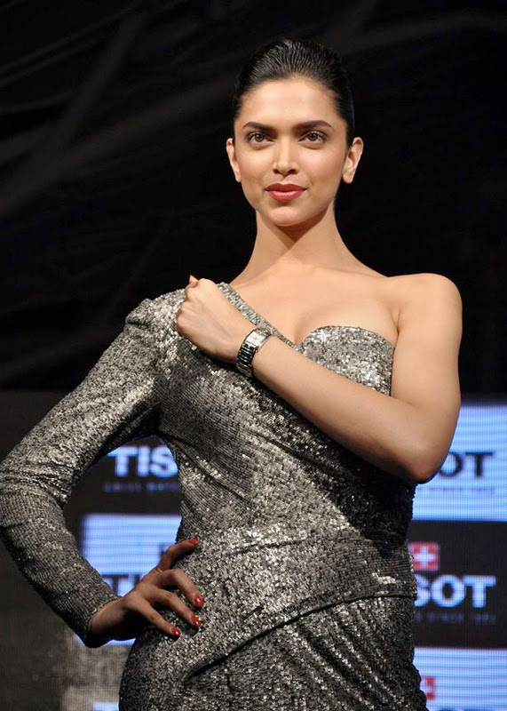 deepika padukone at tissot watches new spicy actress pics