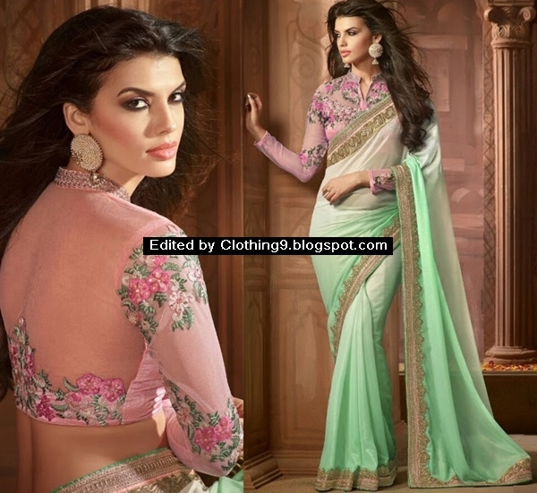 Latest fashion sarees for weddings and parties 2017