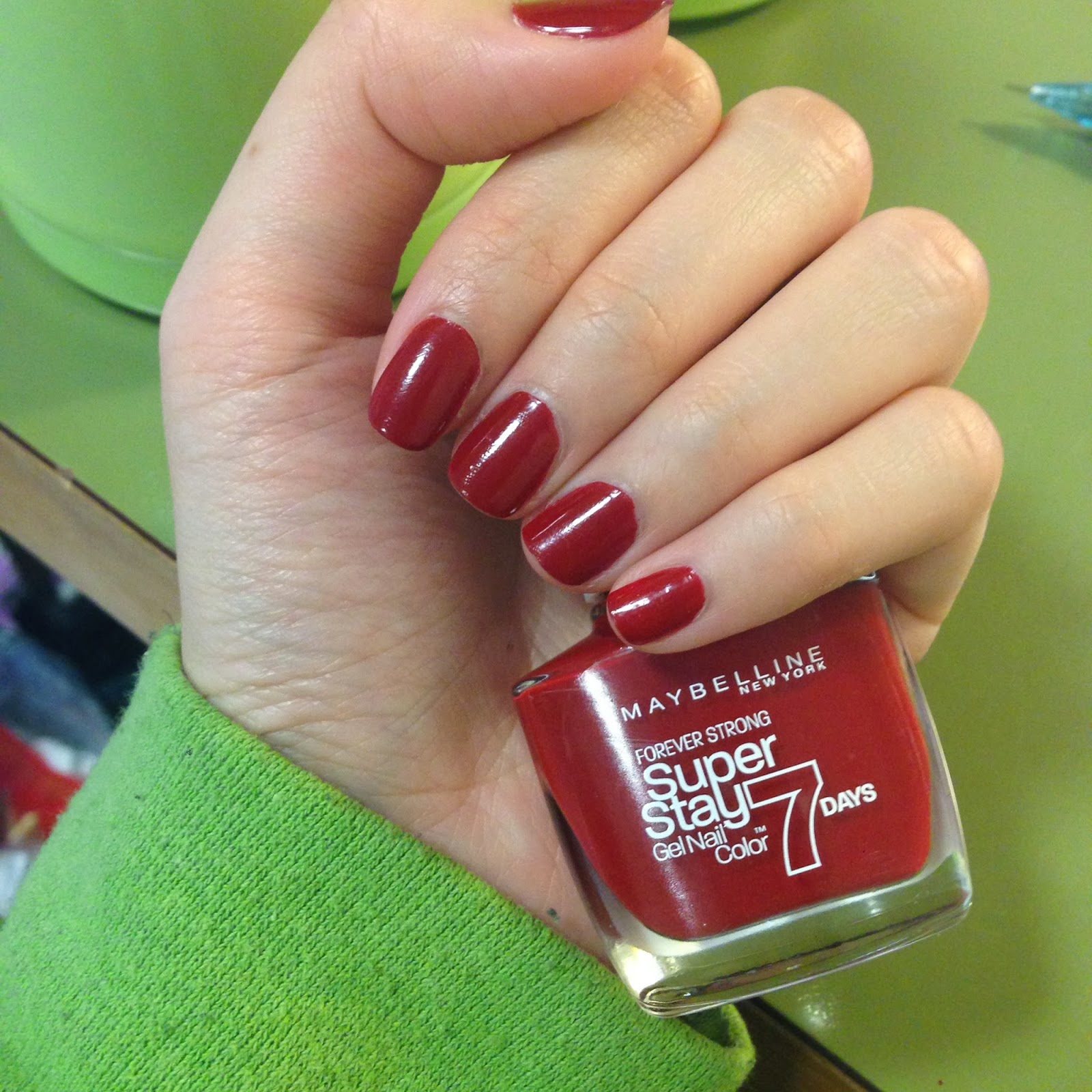 J\'s words: Review: Maybelline Forever Strong Nail Polish [Rouge ...