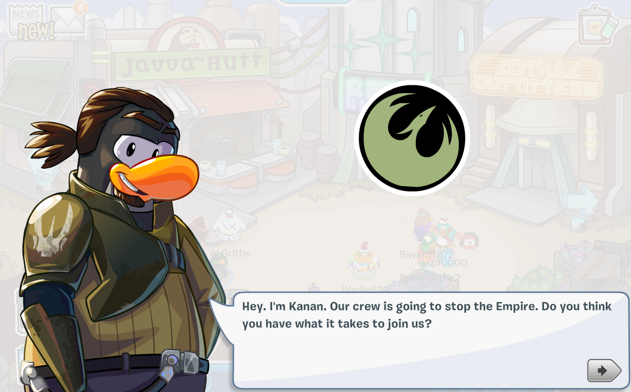 Club Penguin Star Wars Rebels Takeover Party 2015