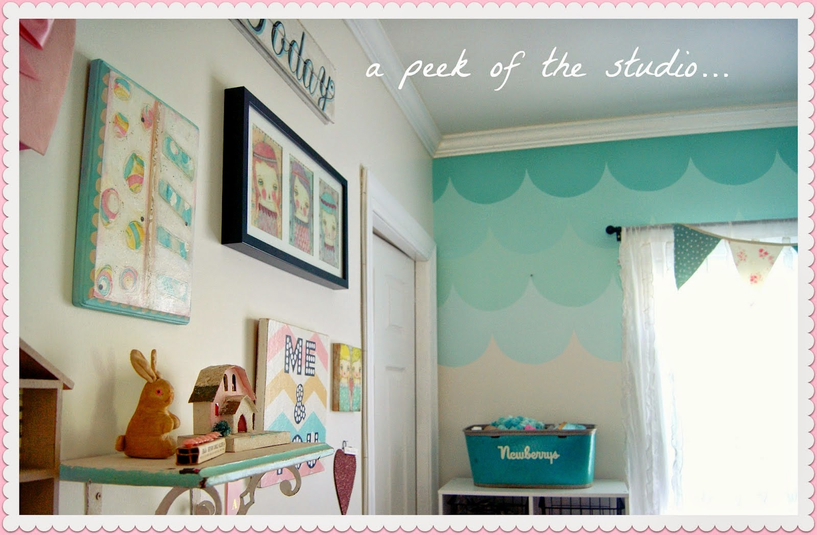 Cat Rumah Shabby - knocking on heavens door diy wall painting ombre wall