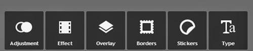 Opções para adicionar personalizar a montagem