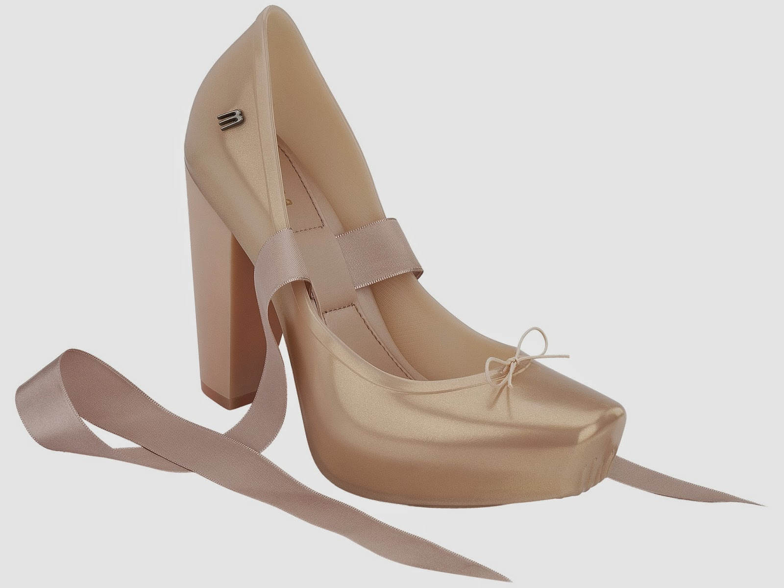 the daily bauble plastic pointe shoe flats and