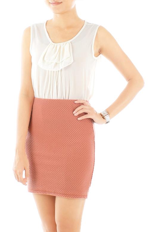 Textured Bandeau Skirt – Vienna Pink