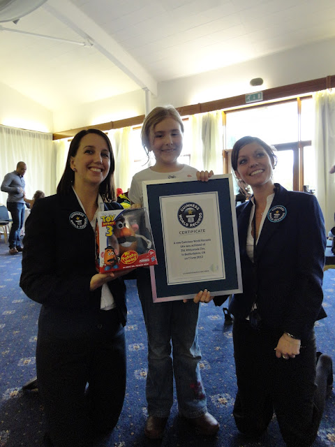 Top Ender the Guinness World Record Holder for putting a Mr Potato Head Together in the fastest time whilst Blindfolded