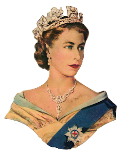 Retro Queen Elisabeth