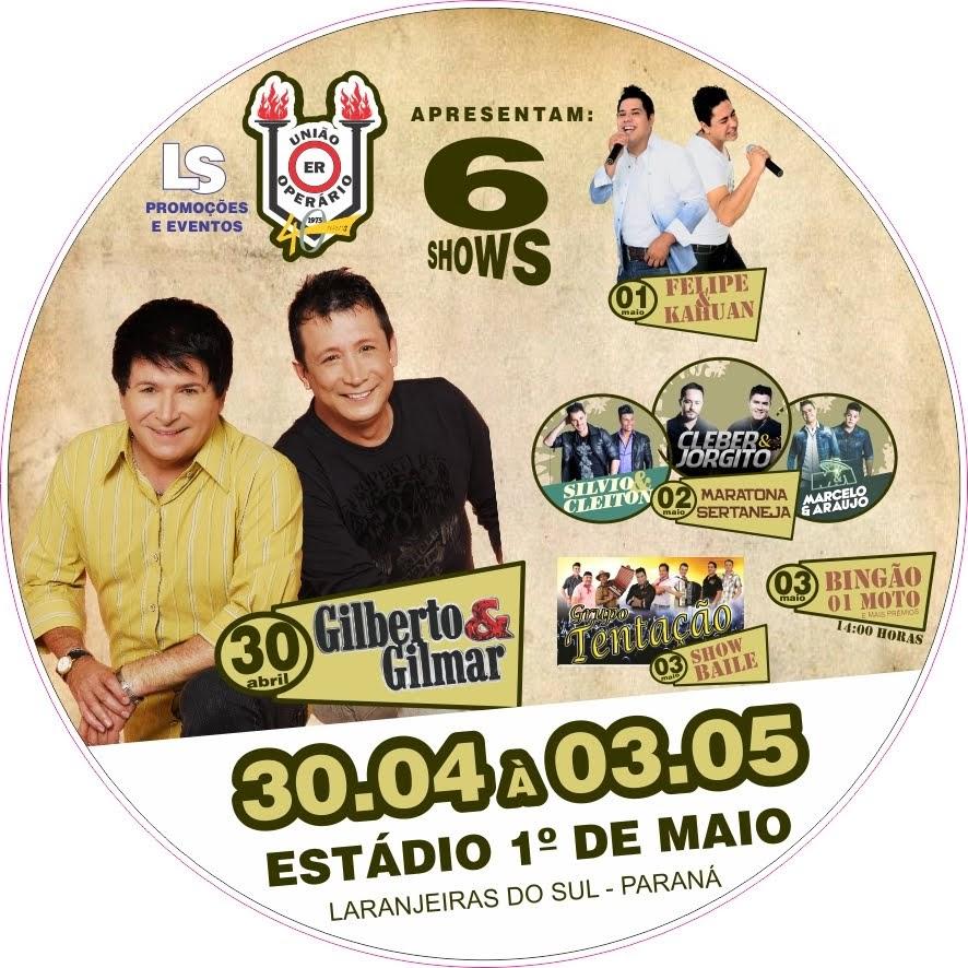 Laranjeiras do Sul:40 anos Operário serão comemorados com 6 shows musicais e várias atrações