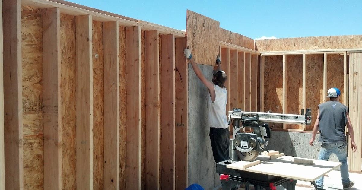 stannard log home basement framing
