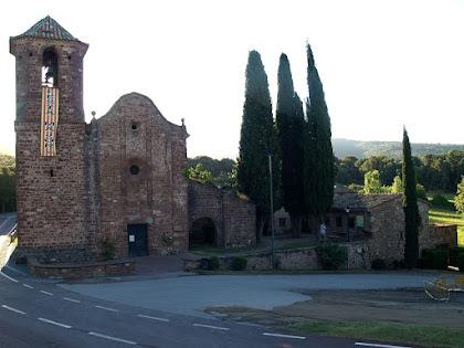 Església de Sant Martí del Brull des de la Font de Sant Martí