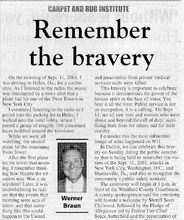 September 11, 2001: Remember the Bravery