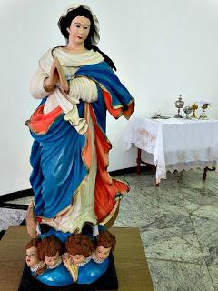 Imagem da Virgem, na Igreja Matriz de São Borja.