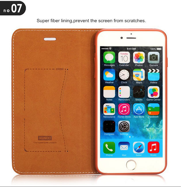 เคส iphone 6s plus ฝาพับ ล็อคแม่เหล็ก
