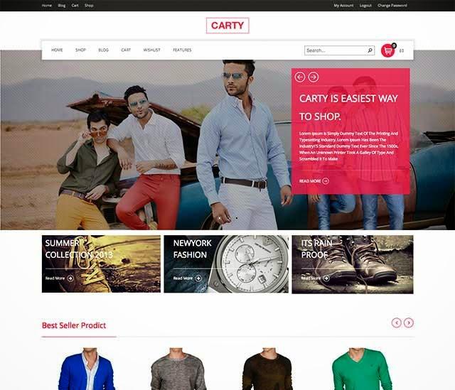 Carty Retina ,Responsive Woocommerce theme