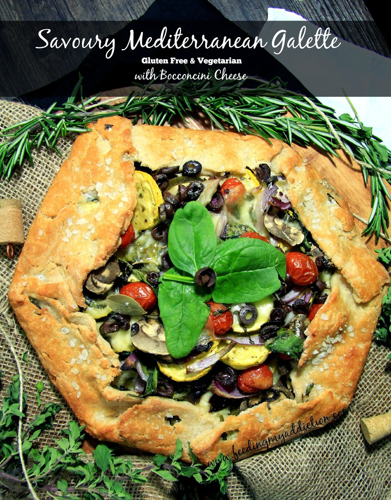 ... My Addiction: Savoury Mediterranean Galette with Bocconcini Cheese