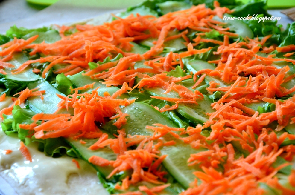Шаурма в домашних условиях с морковкой по корейски