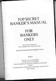 Top Secret Banker's Manual - For Bankers Only!