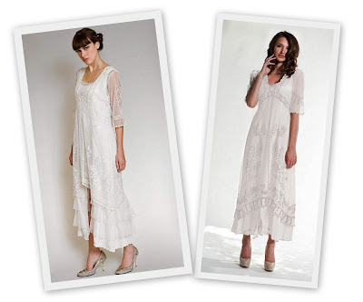 White vintage inspired dresses