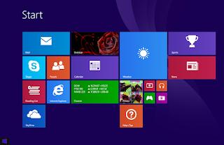 tampilan desktop windows 8.1