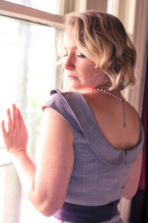 @findingfemme wears Voodoo Vixen lilac dress.